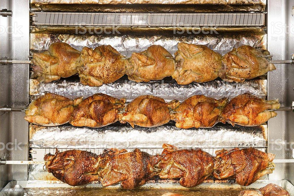 Rostisserie roasted chicken stock photo