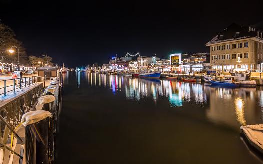 Rostock Warnemuende at night