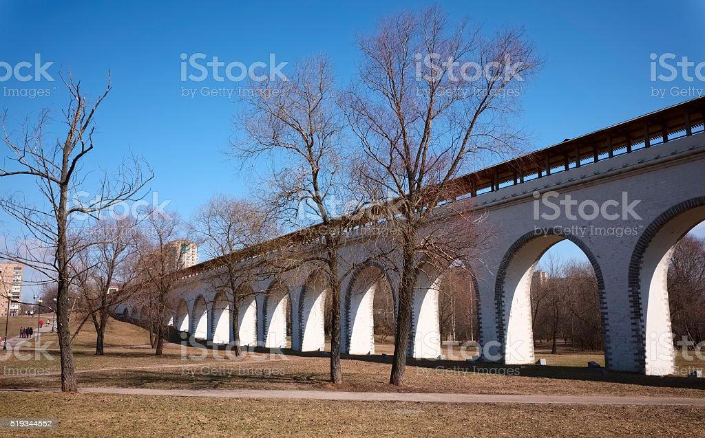 Rostokino Aqueduct in Moscow stock photo