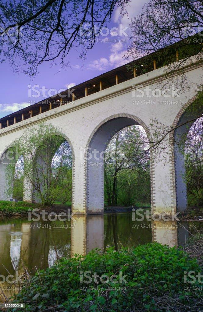 Rostokino Aqueduct / Moscow / Russia stock photo