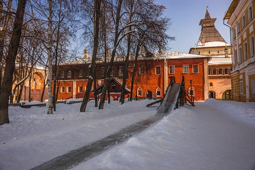 Rostov Kremlin In Snow In Winter Russia Stock Photo - Download Image Now