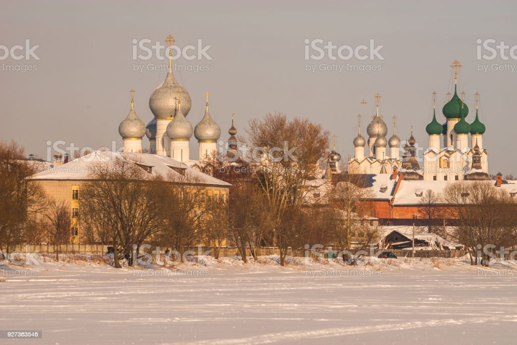 Rostov Kremlin in  snow in winter, Russia - Royalty-free Ancient Stock Photo