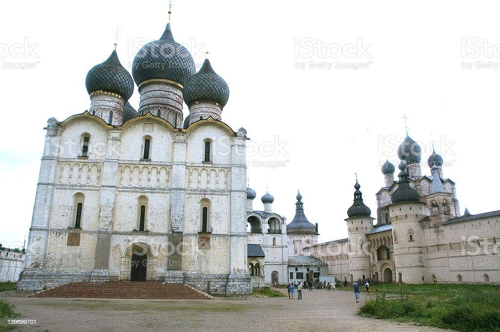 Rostov Kremlin's Cathedral and Walls royalty-free stock photo