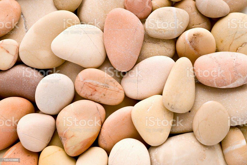 Rosy pebbles stock photo