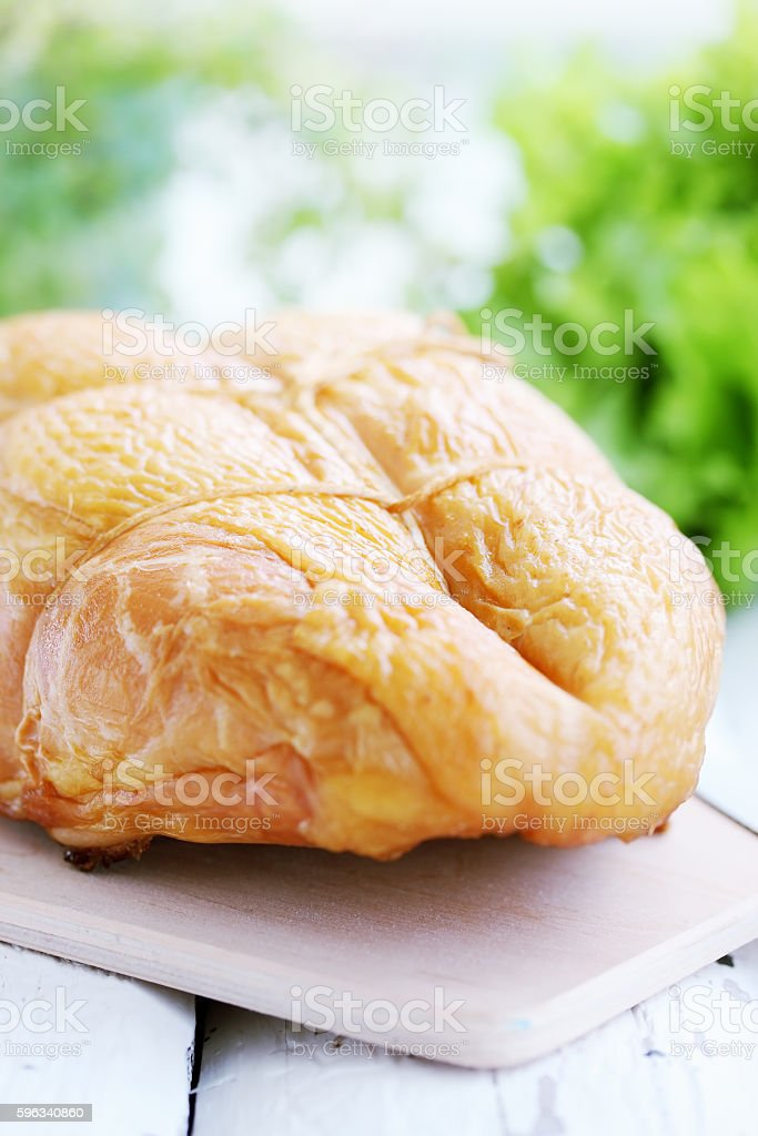 Rosy smoked chicken breast royalty-free stock photo