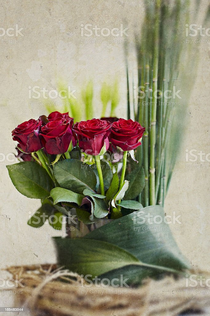 rot, Rose, Blumenstrauß royalty-free stock photo