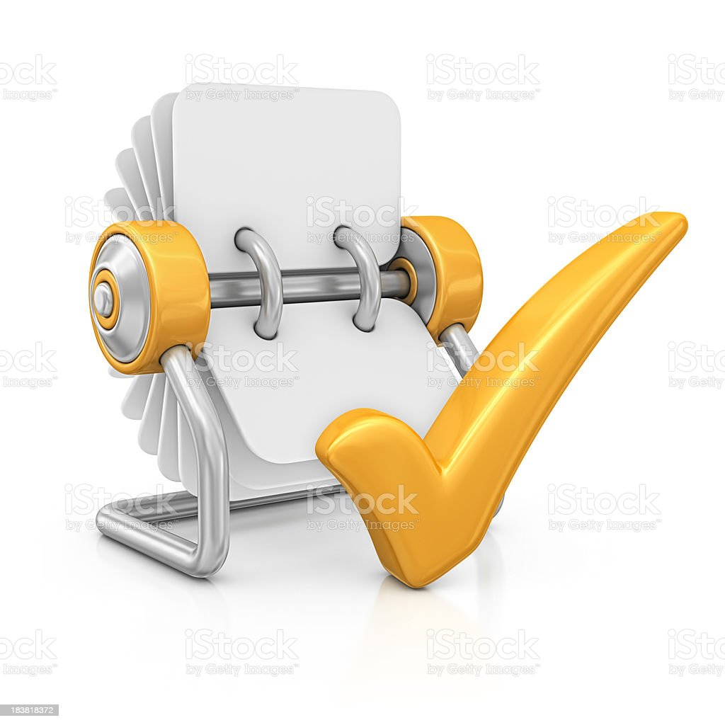 rotary card file and check mark royalty-free stock photo