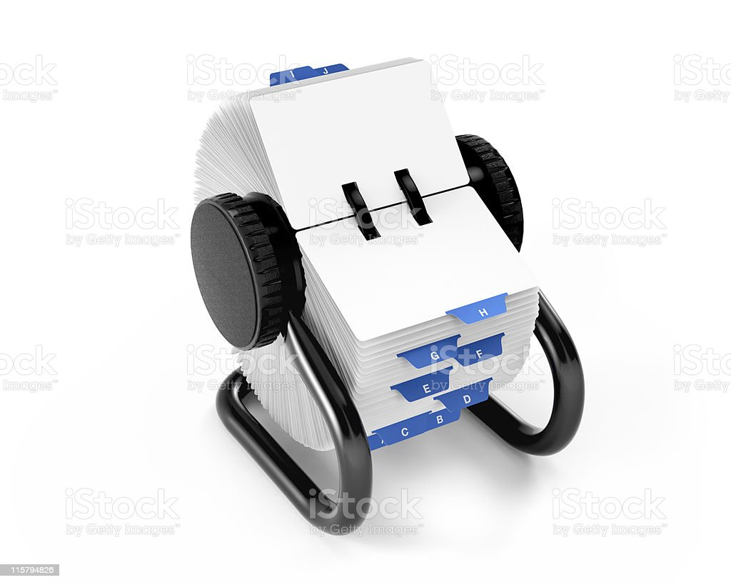 Rotary Card File royalty-free stock photo