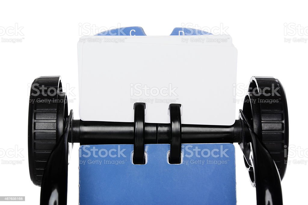 Rotary Card File stock photo
