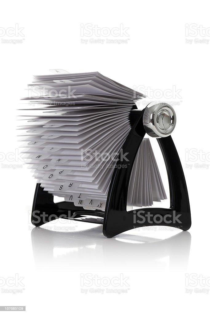 Rotary file royalty-free stock photo