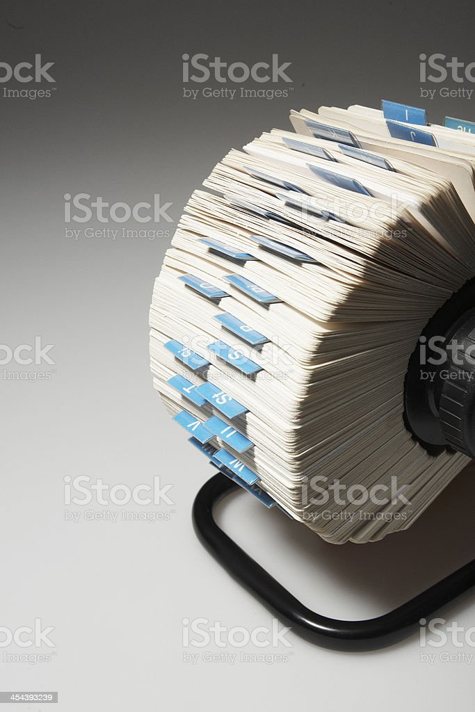 Rotary File stock photo