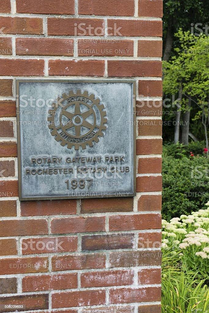 Rotary Gateway Park, Rochester, Michigan stock photo