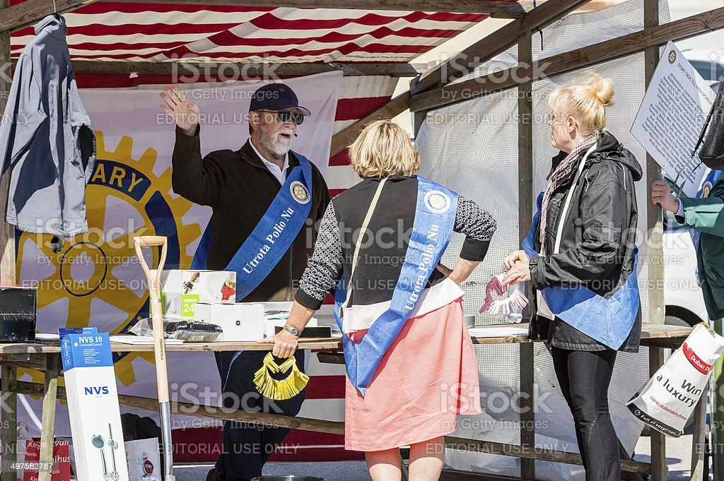 Rotary having lottery stock photo
