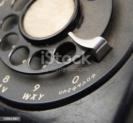 istock Rotary Phone - Dial Operator 105943831