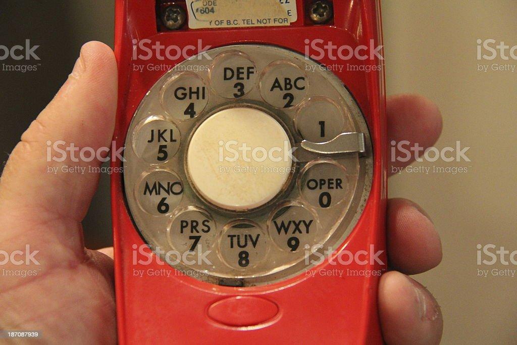 Rotary Phone Dial royalty-free stock photo