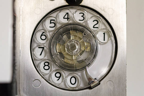 Indicador de Telefone no Battleship Wisconsin - foto de acervo