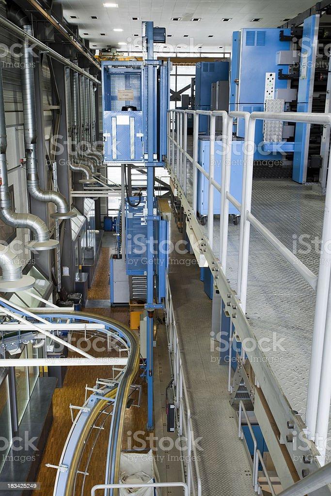 Rotary printing press royalty-free stock photo