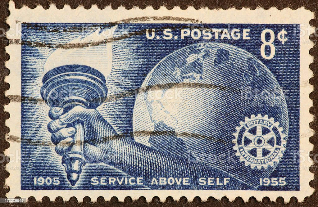 Rotary stamp 1955 royalty-free stock photo
