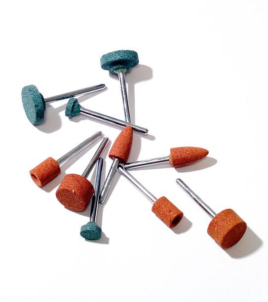 rotary tools-schleifen, schärfen - dremel zubehör stock-fotos und bilder