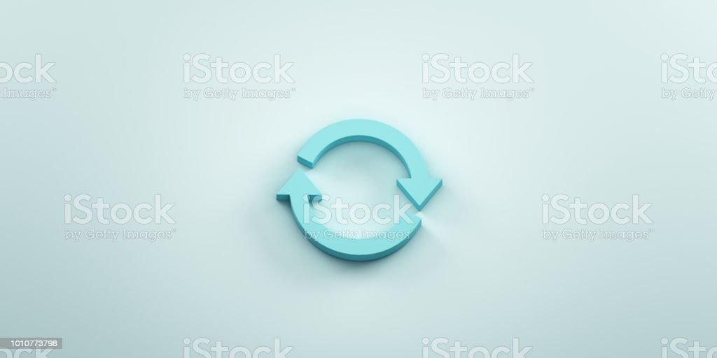 Rotate Symbol. 3D Render Illustration stock photo