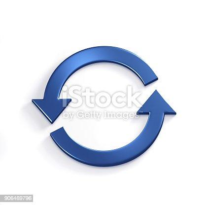 istock Rotating Arrows. 3D Render Illustration 906469796