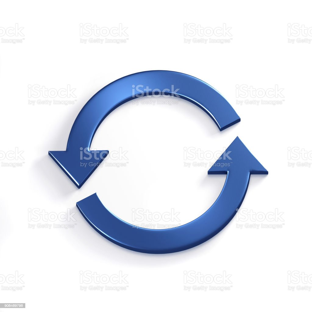 Rotating Arrows. 3D Render Illustration stock photo
