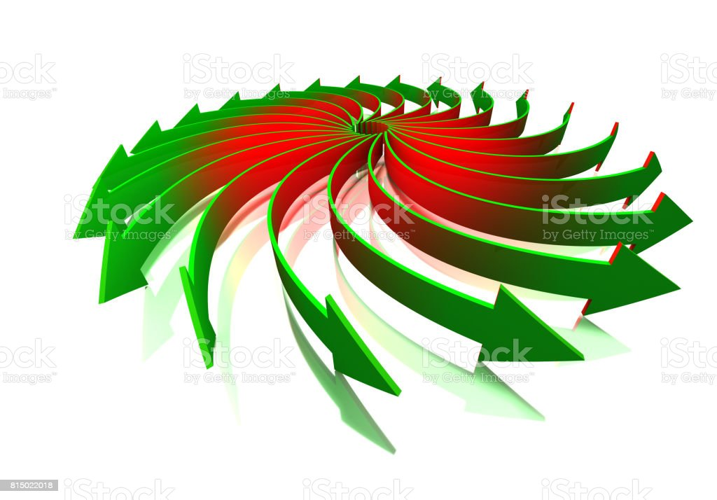 Rotating arrows concept stock photo