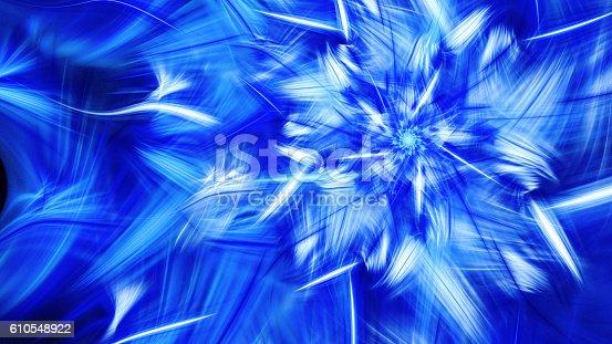 istock Rotating bright fireworks. 610548922