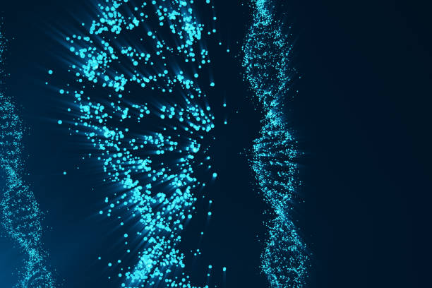 Rotating DNA, Genetic engineering scientific concept, blue tint. 3d rendering Rotating DNA, Genetic engineering scientific concept, blue tint, 3d rendering dna purification stock pictures, royalty-free photos & images