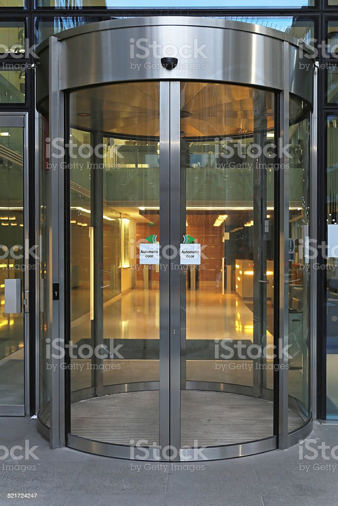 Rotating door stock photo