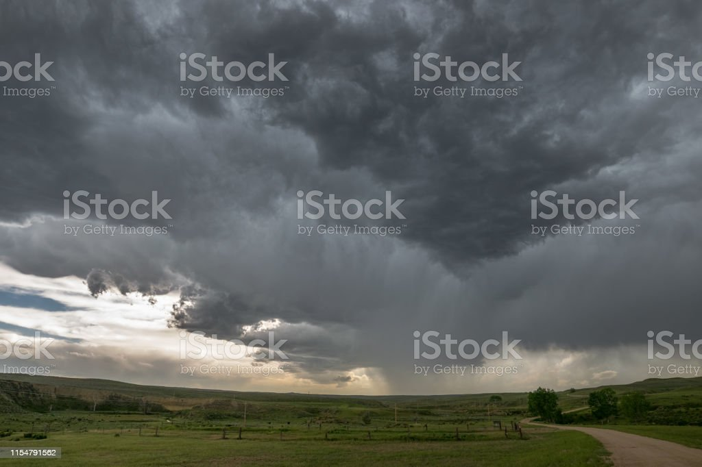Beautiful structure of a strong thunderstorm over the high plains of...