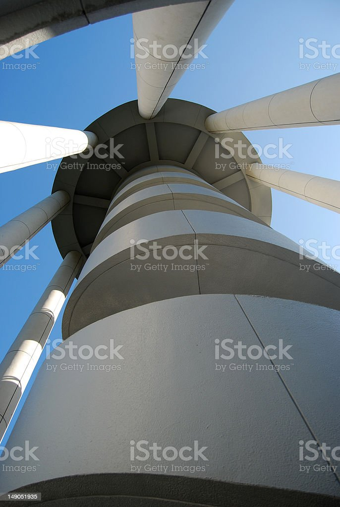 Rotating Tower Steps stock photo