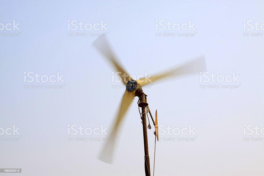 회전 풍력발전기 royalty-free 스톡 사진