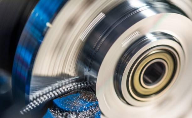 Pièce tournante avec éclat métallique - Photo