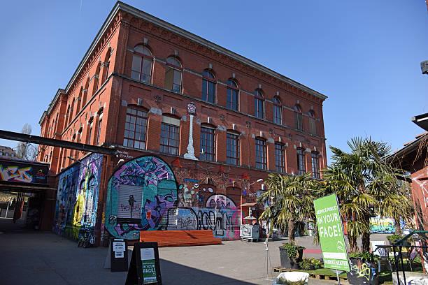 Rote Fabrik Zurich stock photo
