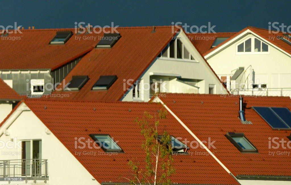 rote Ziegeldächer 3 stock photo