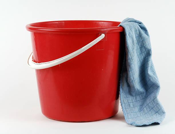 Roter Putzeimer stock photo