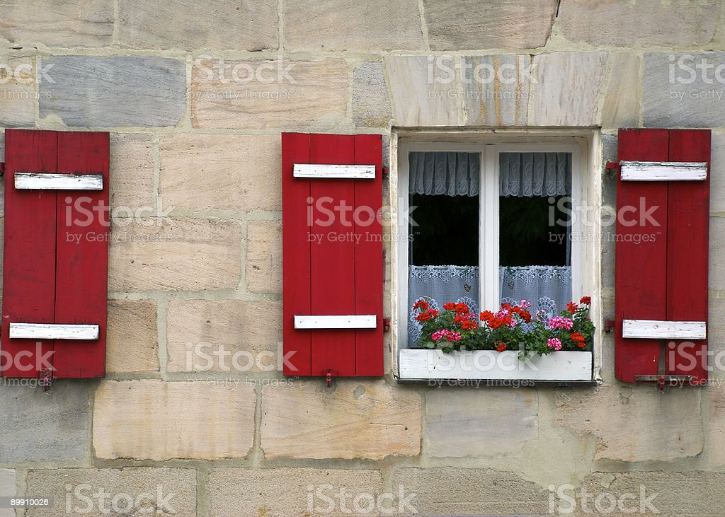 Rotes Fenster - Red Window royalty-free stock photo