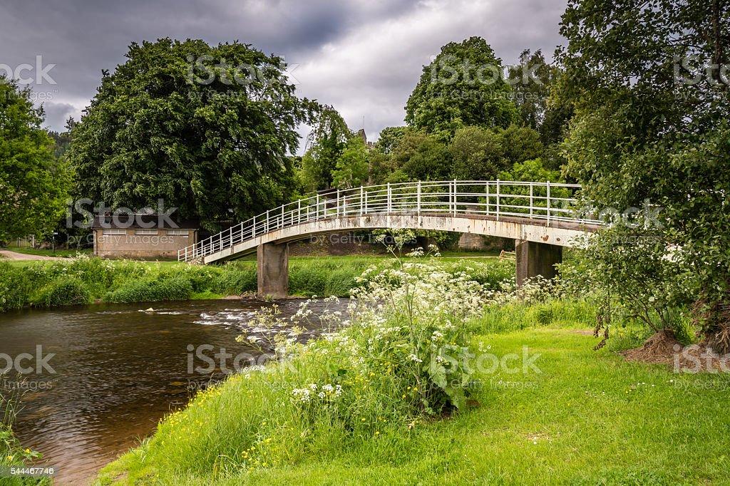 Rothbury footbridge stock photo
