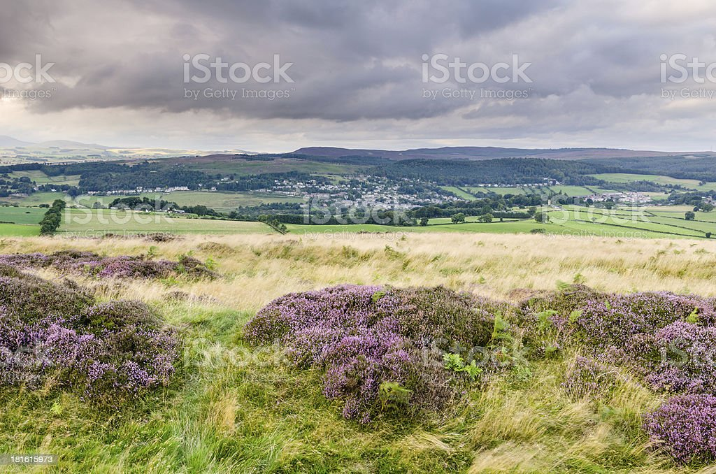 Rothbury in Coquetdale stock photo