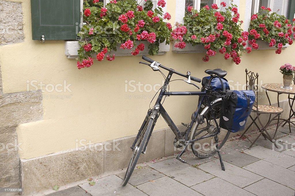 Rothenburg bicicleta - foto de acervo
