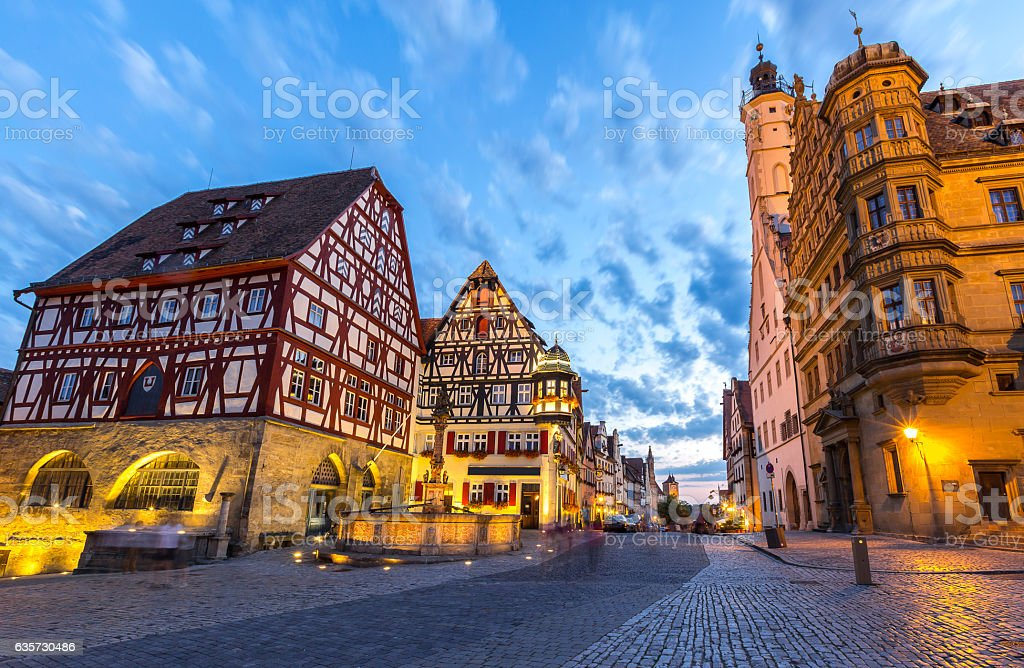 Rothenburg City hall stock photo