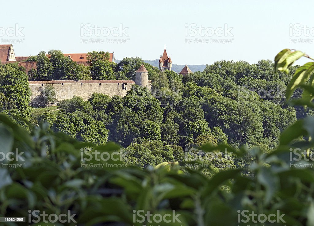 rothenburg city wall royalty-free stock photo