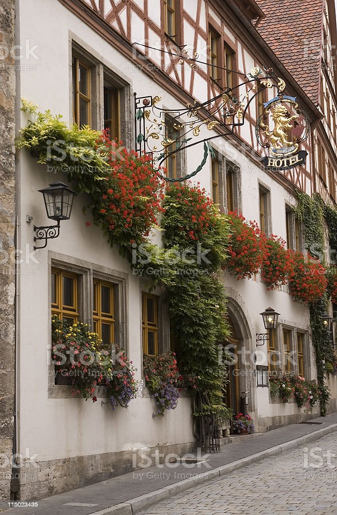 Rothenburg Hotel royalty-free stock photo