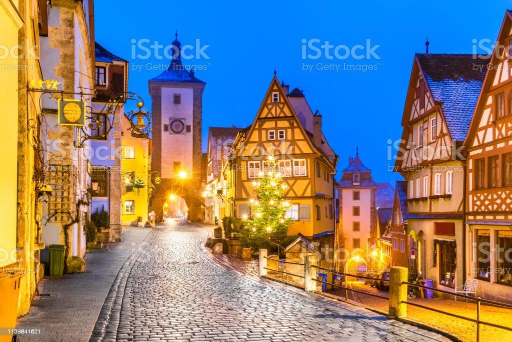 Rothenburg ob der Tauber, Bavaria, Duitsland - Royalty-free Architectuur Stockfoto