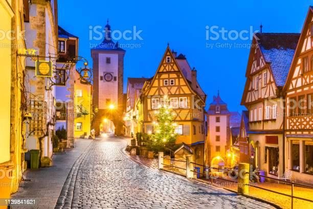 Rothenburg Ob Der Tauber Bavaria Duitsland Stockfoto en meer beelden van Architectuur