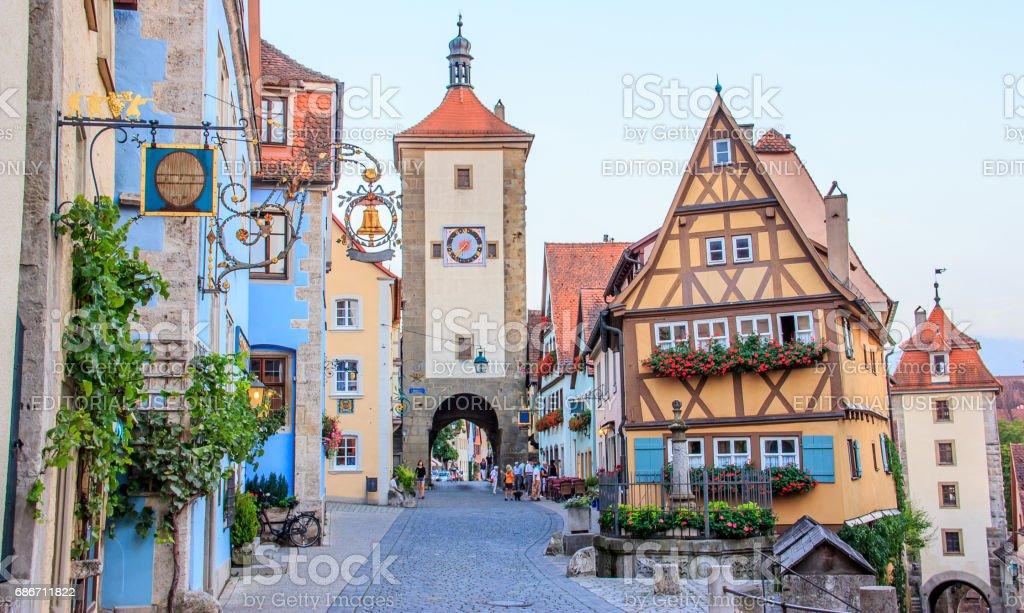 Fotograf a de rothenburg ob der tauber franconia baviera - Rothenburg ob der tauber alemania ...