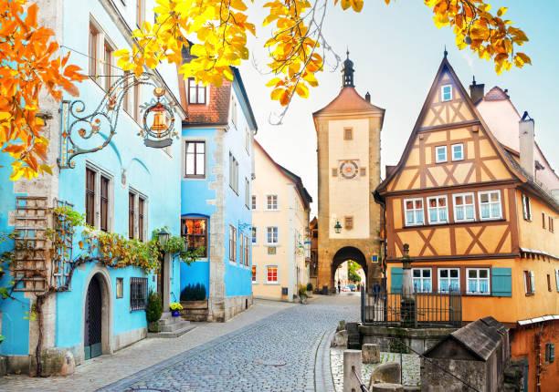 rothenburg ob der tauber, duitsland - rothenburg stockfoto's en -beelden