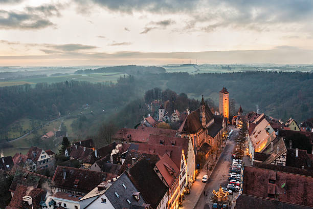 rothenburg ob der tauber, germany - rothenburg stockfoto's en -beelden