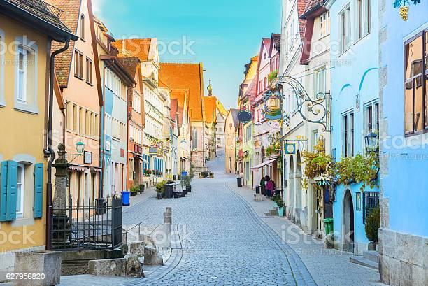 Rothenburg Ob Der Tauber Germany Stockfoto en meer beelden van Architectuur